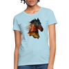 Horse Women's T-Shirt - powder blue