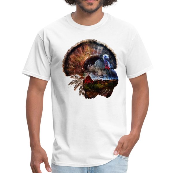 Turkey t-shirt - Animal Face T-Shirt - white