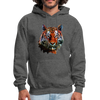 Tiger Men's Hoodie - charcoal gray