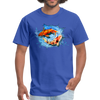 Swimming Koi Men's T-Shirt - royal blue