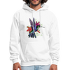 Flying Hummingbird Men's Hoodie - white