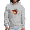 Tiger with Moon Hoodie - Animal Face Hoodie - heather gray