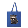 Raccon Tote Bag - royal blue