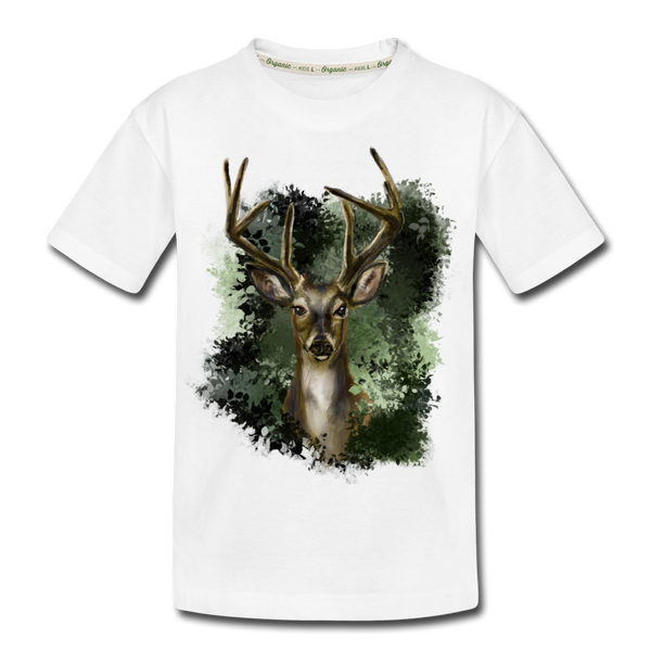 Deer Kid's Premium Organic T-Shirt - white