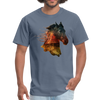 Horse t-shirt - Animal Face T-Shirt - denim