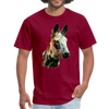 Donkey t-shirt - Animal Face T-Shirt - burgundy