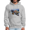 Sea turtle hoodie - Animal Face Hoodie - heather gray