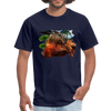 Chilling Kangaroo t-shirt - navy