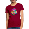 Lion with mane Women's T-Shirt - dark red