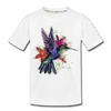 Flying Hummingbird Kid's Premium Organic T-Shirt - white