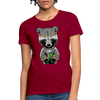 Racoon Women's T-Shirt - dark red
