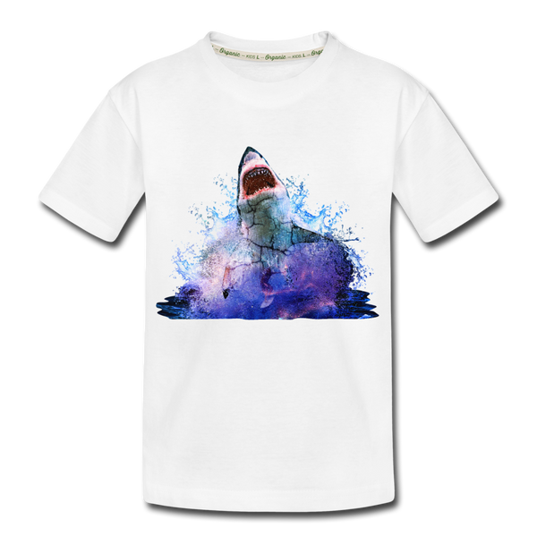 Shark Kid's Premium Organic T-Shirt - white