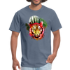 Watercolor tiger t-shirt - denim