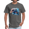 Dolphin t-shirt - Animal Face T-Shirt - charcoal