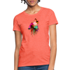 Howling Wolf Women's T-Shirt - heather coral