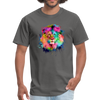 Lion with mane t-shirt - Animal Face T-Shirt - charcoal