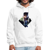 Young wolf standing hoodie - Animal Face Hoodie - white