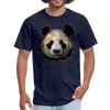 Panda t-shirt - Animal Face T-Shirt - navy