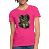 Deer with foliage Women's T-Shirt - fuchsia