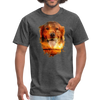 Golden Retriever Dog t-shirt - Animal Face T-Shirt - heather black