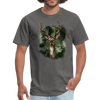 Deer with foliage Men's T-Shirt - charcoal