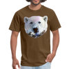 Polar bear t-shirt - Animal Face T-Shirt - brown