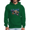 Sea turtle hoodie - Animal Face Hoodie - forest green
