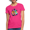 Lion with mane Women's T-Shirt - fuchsia