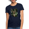 Deer with foliage Women's T-Shirt - navy