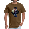 Young wolf standing T-Shirt - Animal Face T-Shirt - brown