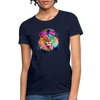 Lion with mane Women's T-Shirt - navy
