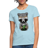 Racoon Women's T-Shirt - powder blue