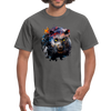 Black panther t-shirt - Animal Face T-Shirt - charcoal