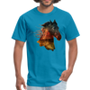 Horse t-shirt - Animal Face T-Shirt - turquoise