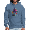 Flying Hummingbird Men's Hoodie - denim blue