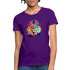 Lion with mane Women's T-Shirt - purple