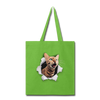 Cat with eyes Tote Bag - lime green