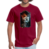 Gorilla t-shirt - Animal Face T-Shirt - burgundy