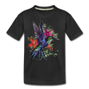 Flying Hummingbird Kid's Premium Organic T-Shirt - black