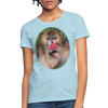 Mandrill Monkey Women's T-Shirt - powder blue