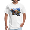 Sea Turtle T-Shirt - Animal Face T-Shirt - white