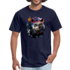 Black panther t-shirt - Animal Face T-Shirt - navy