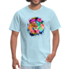 Lion with mane t-shirt - Animal Face T-Shirt - powder blue