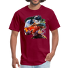 River trout t-shirt - Animal Face T-Shirt - burgundy