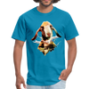 Goat t-shirt - Animal Face T-Shirt - turquoise