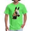 Donkey t-shirt - Animal Face T-Shirt - kiwi