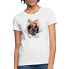 Cat with eyes Women's T-Shirt - white