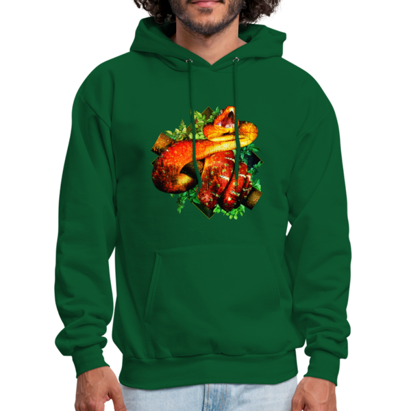 Snake hoodie - Animal Face Hoodie - forest green