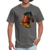 Horse t-shirt - Animal Face T-Shirt - charcoal