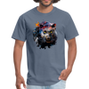 Black panther t-shirt - Animal Face T-Shirt - denim